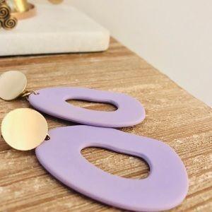 Matte Lavender Abstract Earrings